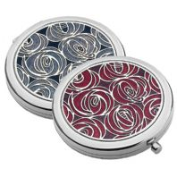 Rennie Mackintosh Roses Purse Mirror